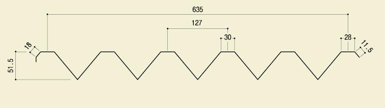 ラッキーカバーW635(小波スレート用)